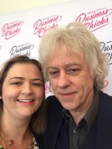Claire Naidu & Sir Bob Geldof